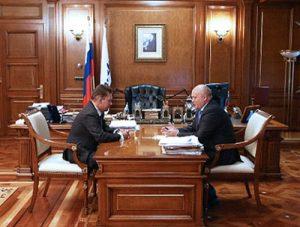 Председатель правления «Газпрома» Алексей Миллер и глава региона Виктор Назаров обсудили ход реализации Соглашения о сотрудничестве