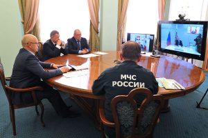 Губернатор Виктор Назаров доложил лично Президенту РФ Владимиру Путину о паводковой обстановке на территории Омской области