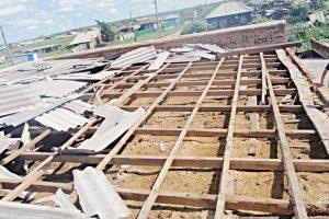 Очередной удар стихии приняло на себя Баженовское сельское поселение
