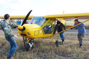 Праздник — для больших и маленьких устроил в Саргатке Омский авиационно-технический клуб «Вираж»