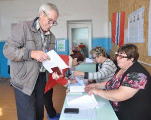 Голосование в селе идет активно